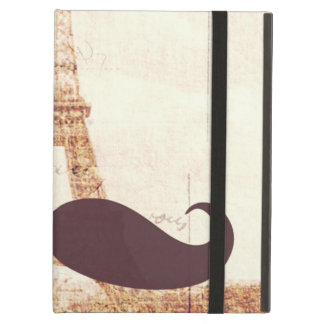 Mustache Eiffel Tower Cover For iPad Air