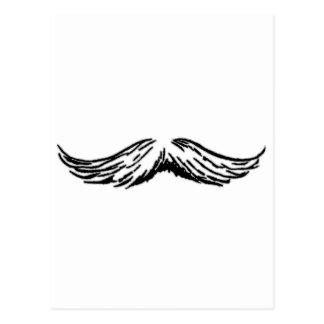 Mustache Grey Black The MUSEUM Zazzle Gifts Postcard