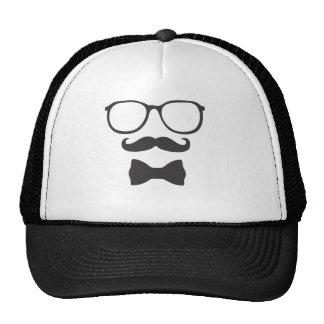 Mustache Hipster Bowtie Glasses Cap
