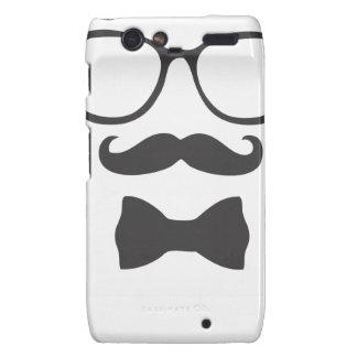 Mustache Hipster Bowtie Glasses Motorola Droid RAZR Cases