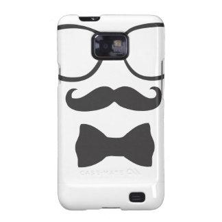 Mustache Hipster Bowtie Glasses Samsung Galaxy S2 Case