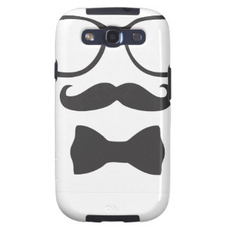 Mustache Hipster Bowtie Glasses Samsung Galaxy S3 Case