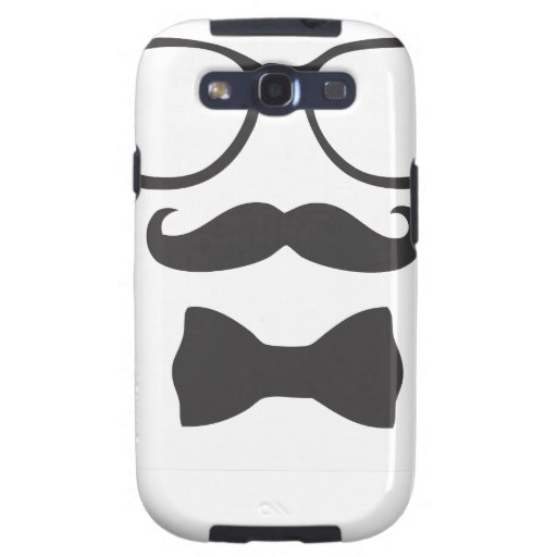 Mustache Hipster Bowtie Glasses Samsung Galaxy S3 Case