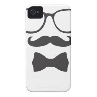Mustache Hipster Bowtie Glasses Case-Mate iPhone 4 Case