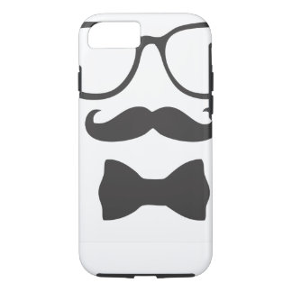 Mustache Hipster Bowtie Glasses iPhone 7 Case