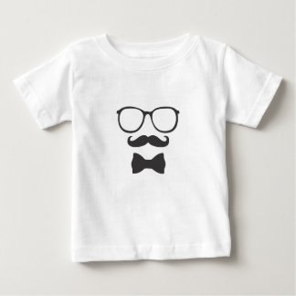 Mustache Hipster Bowtie Glasses Tshirt