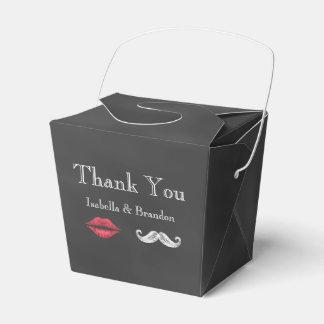 Mustache & Lips Favor Box 2 Party Favour Box