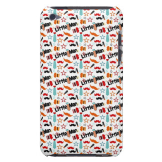 "Mustache ""Little Man"" Pattern Barely There iPod Cases"