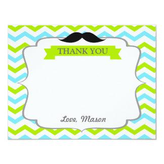 Mustache Little Man Thank You Card