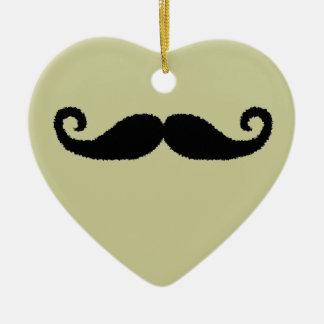 Mustache Love Christmas Ornament