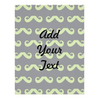 Mustache Mint Grey Personalized Flyer