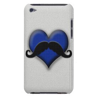 Mustache on Blue Heart, Very Retro! iPod Case-Mate Cases