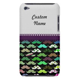 Mustache Retro Pattern Personalized Custom Name iPod Touch Case-Mate Case