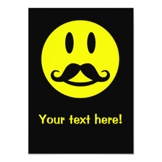 Mustache Smiley custom invitation
