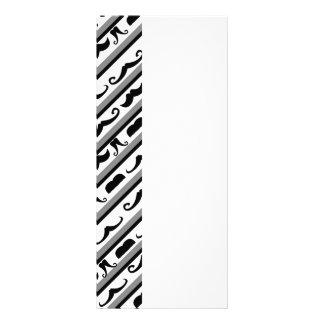 Mustache Stripes Rack Card