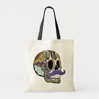 Mustache Sugar Skull Bag - Color Version