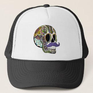 Mustache Sugar Skull Hat - Color Version