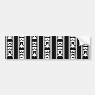 Mustache Vertical Stripes Bumper Sticker