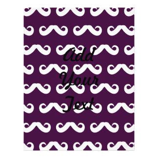 Mustache White Purple Flyer Design