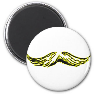 Mustache Yellow Black The MUSEUM Zazzle Gifts Magnet