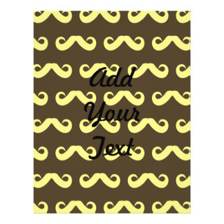 Mustache Yellows Personalized Flyer