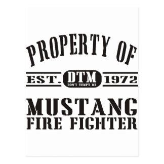 Mustang Fire Fighter Postcard