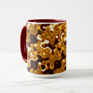 Mustard & Burgundy Combo Mug by Artist C.L. Brown