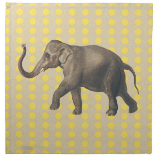 Mustard Spice Moods Dots with Elephant Napkin
