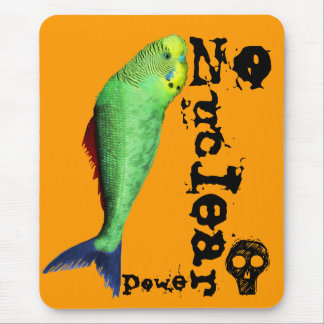 Mutant Bird Fish - Stop Nuclear Madness Mouse Pad
