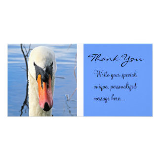 Mute Swan (Thank You) Personalised Photo Card