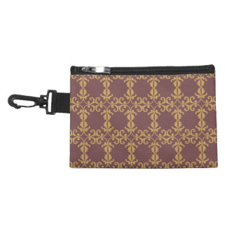 Muted Brown Floral Accessory Bag