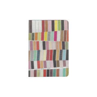 Muted Multicolor Swatches Passport Holder