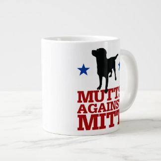Mutts Against Mitt Large Coffee Mug