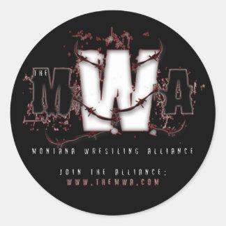 MWA - Gettin Stuck - Black Classic Round Sticker