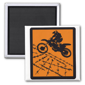 MX CLAY RIDING SQUARE MAGNET