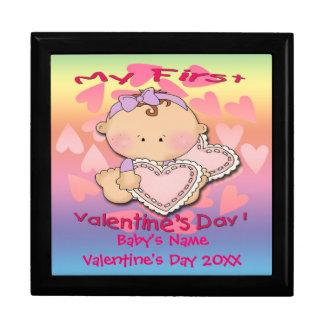 My 1st Valentine s Day girl Gift Box Trinket Bo