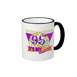 My 95th Birthday Gifts Ringer Mug
