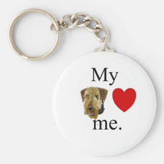 My airedale lrves me key ring