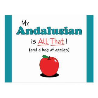 My Andalusian is All That! Funny Horse Postcard