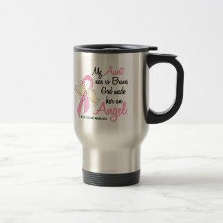 My Aunt Is An Angel 2 Breast Cancer Travel Mug