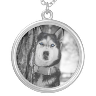 My Baby Blue Eyes Silver Plated Necklace