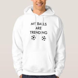 my balls are trending hooded sweatshirts