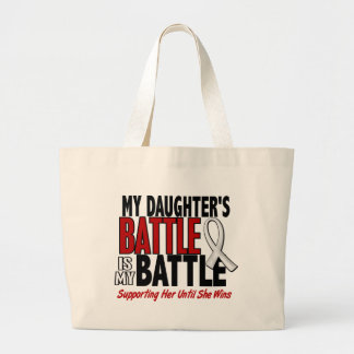 My Battle Too 1 Daughter BONE / LUNG CANCER Jumbo Tote Bag