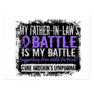My Battle Too 2 Father-In-Law Hodgkins Lymphoma Postcard