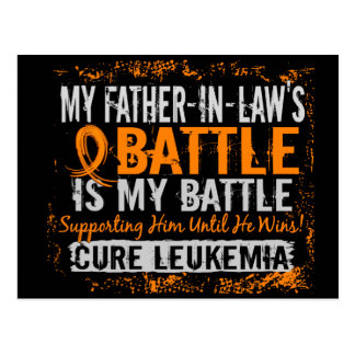 My Battle Too 2 Leukemia Father-In-Law Postcards