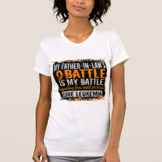 My Battle Too 2 Leukemia Father-In-Law T-Shirt