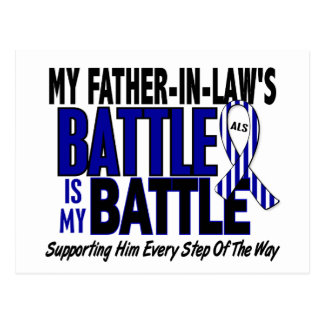 My Battle Too ALS Father-In-Law Postcard