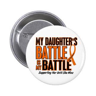 My Battle Too Daughter Leukemia 6 Cm Round Badge