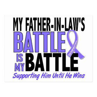 My Battle Too Father-In-Law Esophageal Cancer Postcard