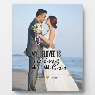 My Beloved is Mine, Scripture and Wedding Photo Plaque